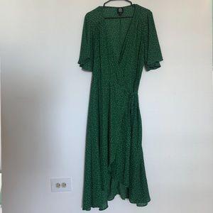 Bobeau Midi Wrap Dress